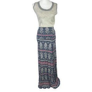 Artisan Ny Maxi Anthropologie Boho Printed Skirt S